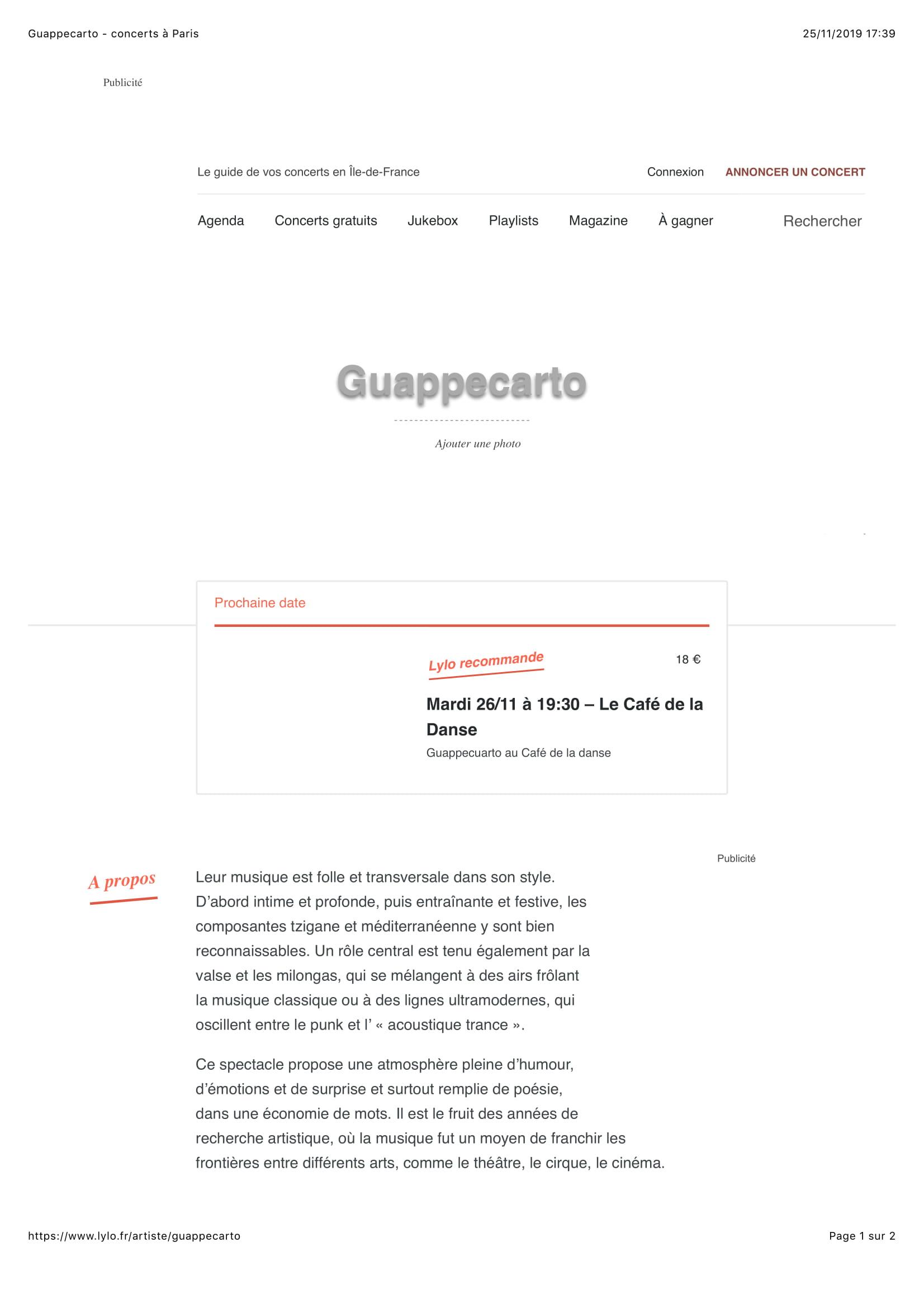 Guappecarto Revue de presse